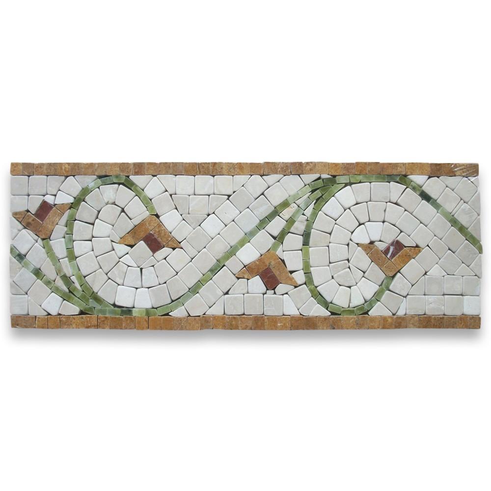 marble mosaics border | mosaics, Hause deko